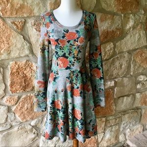 Anthropologie Saturday Sunday Grey Floral Dress